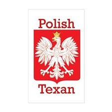 Polish Texan White Eagle Rectangle Decal