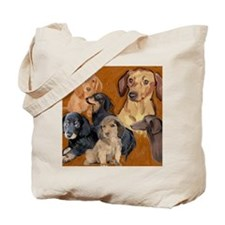 dachshunds_mural3 Tote Bag