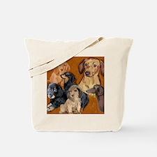 dachshunds_mural3 Tote Bag