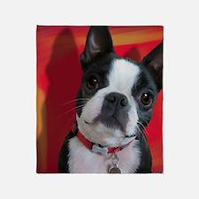 Ruthie the Boston Terrier Throw Blanket