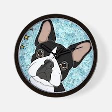 boston terrier Wall Clock