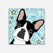"""boston terrier Square Sticker 3"""" x 3"""""""