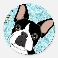 boston terrier Round Car Magnet