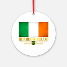 Republic of Ireland (Flag 10) Round Ornament