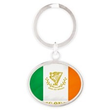 Republic of Ireland Flag (erin) Oval Keychain