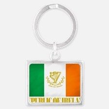 Republic of Ireland Flag (erin) Landscape Keychain