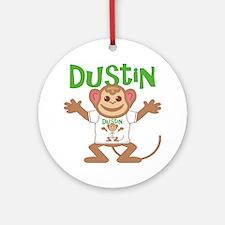 dustin-b-monkey Round Ornament