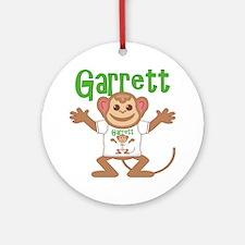 garrett-b-monkey Round Ornament