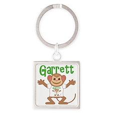 garrett-b-monkey Square Keychain