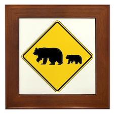 Bears Framed Tile