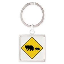 Bears Square Keychain