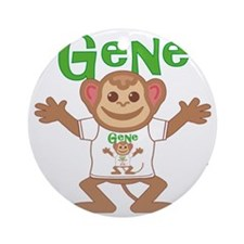 gene-b-monkey Round Ornament