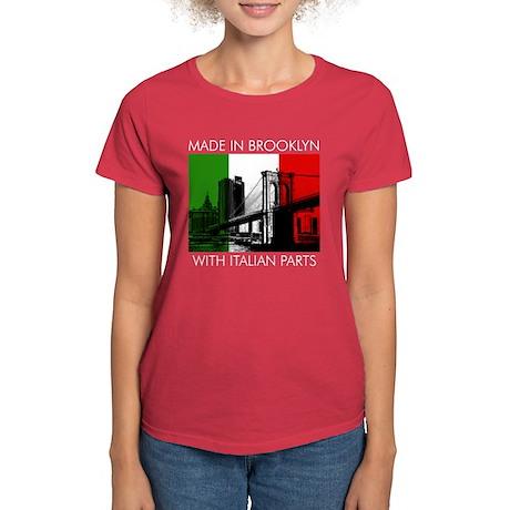 Made in Brooklyn w Italian Women's Red T-Shirt