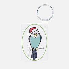 parakeet_blue_orn Keychains