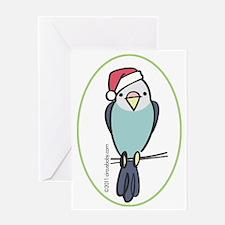 parakeet_blue_orn Greeting Card