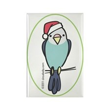 parakeet_blue_orn Rectangle Magnet