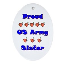 US Army Sister Oval Ornament