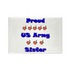 US Army Sister Rectangle Magnet