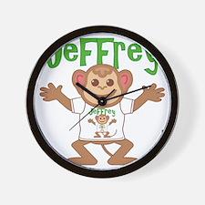 jeffrey-b-monkey Wall Clock