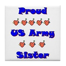 US Army Sister Tile Coaster
