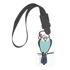 parakeet_blue_santa Luggage Tag