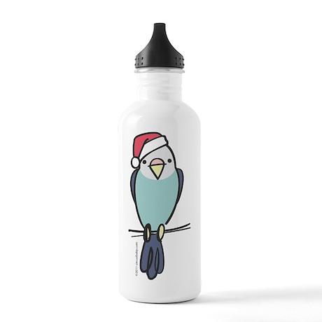 parakeet_blue_santa Stainless Water Bottle 1.0L
