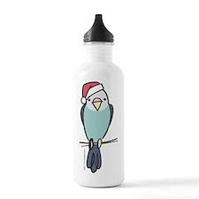 parakeet_blue_santa Water Bottle