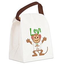 levi-b-monkey Canvas Lunch Bag