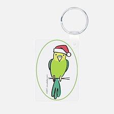 parakeet_green_orn Keychains