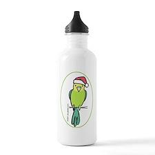 parakeet_green_orn Water Bottle
