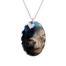 Angel pig journal Necklace