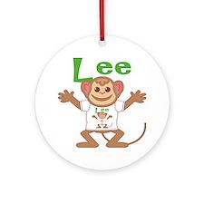 lee-b-monkey Round Ornament