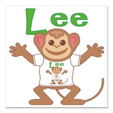 "lee-b-monkey Square Car Magnet 3"" x 3"""
