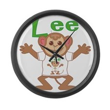 lee-b-monkey Large Wall Clock