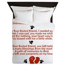 Celebrating the Life of a Four-Footed  Queen Duvet