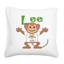lee-b-monkey Square Canvas Pillow