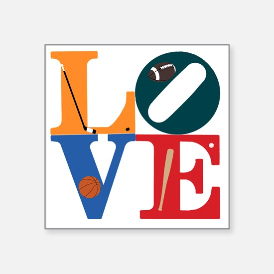 """Philly Sports Love Square Sticker 3"""" x 3"""""""