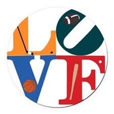 Philly Sports Love Round Car Magnet