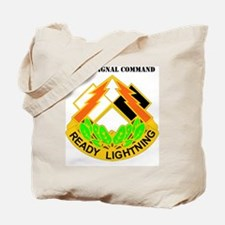 DUI -335TH SIGNAL COMMAND WITH TEXT Tote Bag