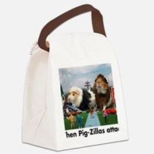 pigZillasBig Canvas Lunch Bag