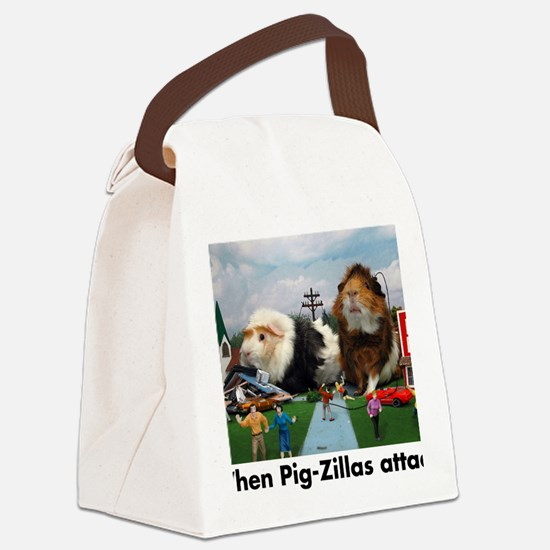 pigZillasBig Canvas Lunch Bag
