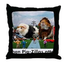 pigZillasBig Throw Pillow