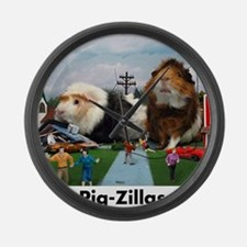 pigZillasBig Large Wall Clock