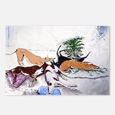 Hound Nap 1 blanket Postcards (Package of 8)
