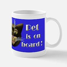 Pet on board Mug