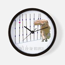 WEAVESmerge2bigM Wall Clock