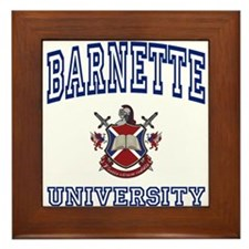 BARNETTE University Framed Tile