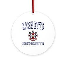 BARNETTE University Ornament (Round)