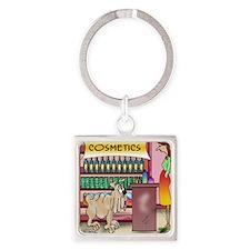 4268_beauty_cartoon Square Keychain