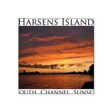 """SouthChannelSunset02 Square Sticker 3"""" x 3"""""""